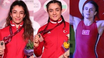 Avrupa  Güreş Şampiyonası'nda üç bronz madalya!