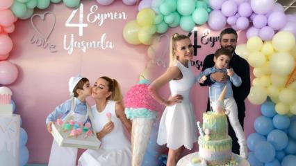 Ece Erken'in oğlu Eymen'e sürpriz doğum günü partisi!