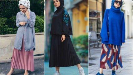 2019'un en yeni tesettür uzun etek modelleri