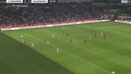 Galatasaray penaltı bekledi, VAR ofsayt dedi!
