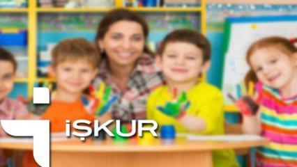 İŞKUR okul öncesi öğretmeni alımı yapıyor! KPSS şartsız başvuru...