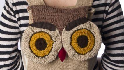 Tığ işi hayvan motifli çanta modası