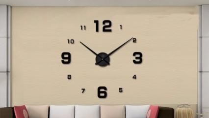 Ev dekorasyonunda farklı saat modelleri