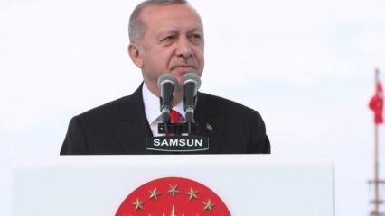Erdoğan, Samsun'da ilan etti: Bugünden itibaren...