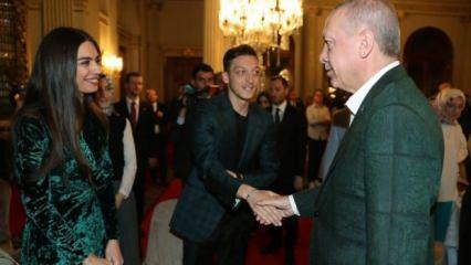 Erdoğan'ın davetinde Mesut Özil sürprizi