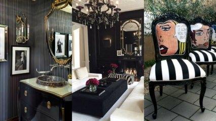 Siyah mobilyalarınız için dekorasyon önerileri