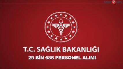 Sağlık Bakanlığı 29 bin 686 personel alımı! Başvuru şartları neler?