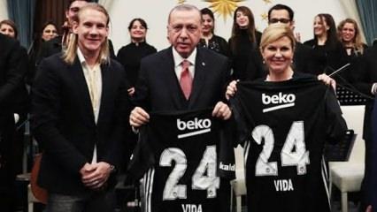 Domagoj Vida ile Erdoğan'ın ilginç diyaloğu!