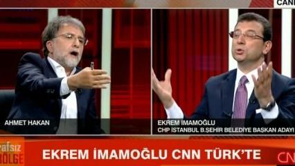 Ahmet Hakan ile CHP adayı İmamoğlu arasında sert tartışma!