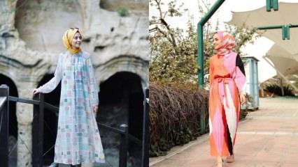 Sezonun dikkat çeken desenli elbise modelleri