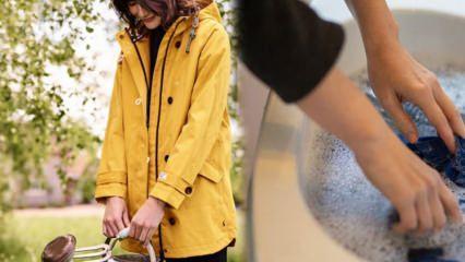 Yağmurluk nasıl temizlenir?