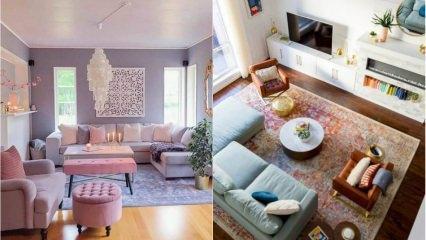 Birbirinden muhteşem salon dekorasyonu önerileri