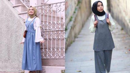 Genç tesettürlü hamileler için salaş spor giyim modelleri