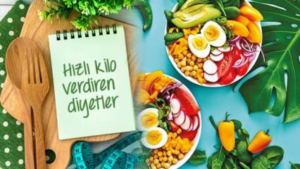Hızlı kilo verdiren en sağlıklı diyet listeleri