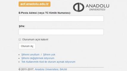 AÖF sınav sonuçları açıklandı! Anadolu Üniversitesi bahar dönemi finalleri...