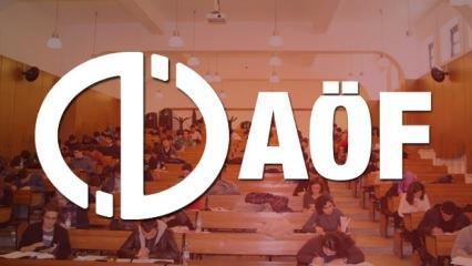 AÖF 3 ders yeni sınav tarihi belli oldu! AÖF yaz okulu kayıtları...