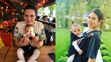 Buse Varol'un 4 aylık oğlu Burak da para kazanmaya başladı