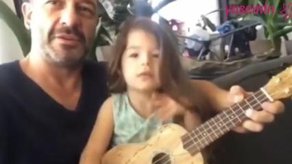Oyuncu Murat Aygen ve kızı Nil ile düet...