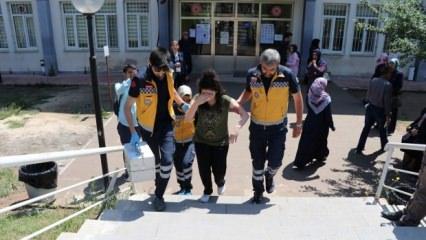 Sınav salonunda bayılan aday, hastaneye kaldırıldı