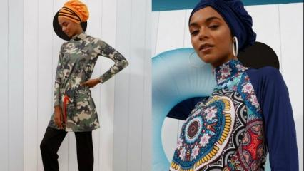 2019'un muhteşem tesettür mayo modelleri