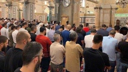Mescid-i Aksa'da Mursi için gıyabi cenaze namazı kılındı!