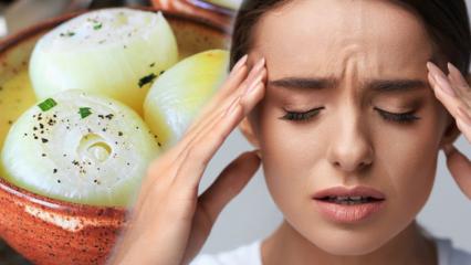Haşlanmış soğanın faydaları nelerdir? Haşlanmış soğanı bir tülbentle başınıza bağlarsanız...