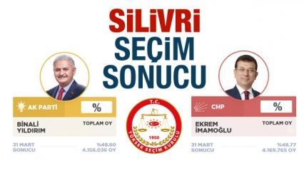 Silivri seçim sonuçları duyuruldu! Silivri AK Parti CHP oy oranları dağılımı