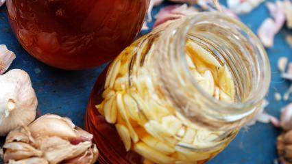 Bal ve sarımsağın faydaları! Her gün bal ve sarımsak karışımından bir kaşık yerseniz ne olur?
