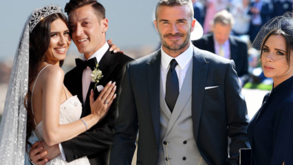 Mesut Özil ile Amine Gülşe David Beckham çiftini solladı!