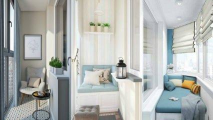 Küçük balkonları büyük gösterecek dekorasyonlar