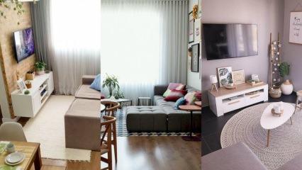Küçük salonlara özel salon dekorasyonu önerileri