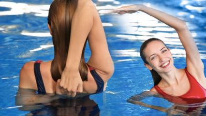 3 hareketle fit karın! Suda yapabileceğiniz en etkili bölgesel zayıflama hareketleri