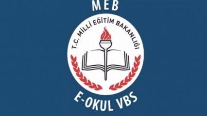 E-Okul giriş | 2019 VBS öğrenci sorgulama | E-Okul VBS şifre değiştirme
