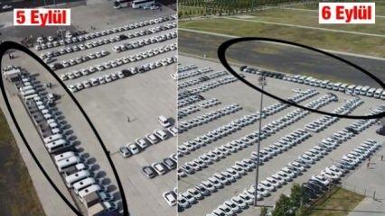 Yenikapı'da dikkat çeken kare! O araçlar nereye kayboldu?