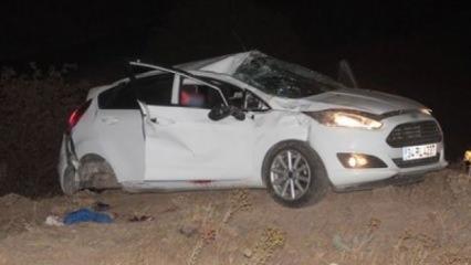 Elazığ'da feci kaza! 1 kişi öldü, 1 kişi yaralandı