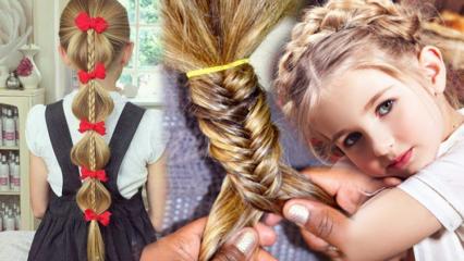 Evde yapılabilecek çocuk saç modelleri neler? Pratik ve kolay okul saç modelleri