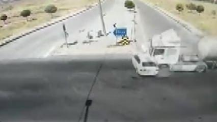 Hatay Emniyet Müdürünün geçirdiği kaza kamerada!