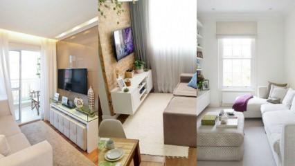 Küçük odalar için salon dekorasyon fikirleri 2019
