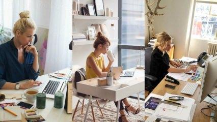 Ofis masaları için dekorasyon ürünleri