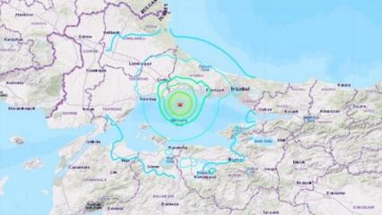 ABD, İstanbul depremini paylaştı! Korkutan 'şok dalgası' haritası