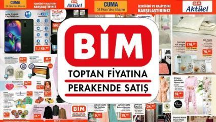 BİM 4 Ekim aktüel ürün kataloğu! Bugün kadınlara özel indirimli ürünler