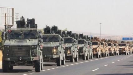 Sınırda büyük hareketlilik! 100 araçlık askeri konvoy Kilis'te