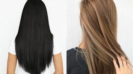 Siyah saç rengi nasıl açılır? Doğal yollarla saç rengi açmanın yolları