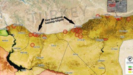 TSK'nın Suriye'de vurduğu yerler! İşte harita üzerinde son durum!