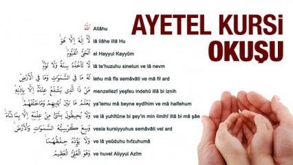 Ayetel Kürsi Türkçe okunuşu ve anlamı! Namazdan sonra okursanız...