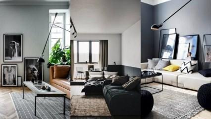 Siyah renk mobilyalarla uygulanabilecek dekorasyon önerileri