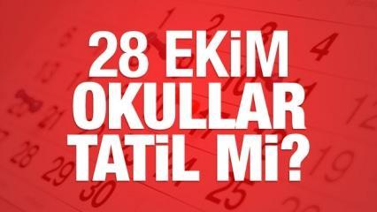 28 Ekim bugün okullar tatil olacak mı? MEB açıkladı
