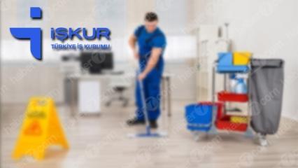 İŞKUR'dan 2845 temizlik personeli alım ilanı! Başvuru şartları neler?