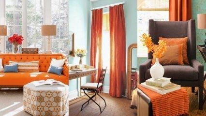 Turuncu renk ile ev dekorasyonu fikirleri