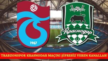 Trabzonspor Krasnodar Maçı şifresiz izle! Şifresiz yabancı kanallar